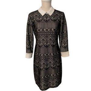 Ivanka Trump Black and White Lace Dress